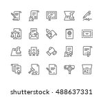 simple set of legal documents... | Shutterstock .eps vector #488637331