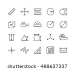 simple set of measure related... | Shutterstock .eps vector #488637337