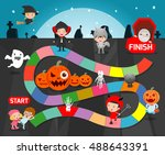 Board Game With Halloween Game...