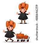 children's halloween character. ... | Shutterstock .eps vector #488646259