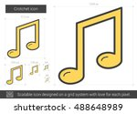 crotchet vector line icon... | Shutterstock .eps vector #488648989