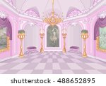 illustration of palace hall | Shutterstock .eps vector #488652895