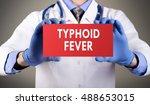 doctor's hands in blue gloves... | Shutterstock . vector #488653015