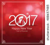 chinese new year 2017 greeting... | Shutterstock .eps vector #488657485
