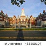 Stock photo dunster house in the fall harvard university cambridge massachusetts 488660107