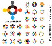 vector logo icons of people... | Shutterstock .eps vector #488661319