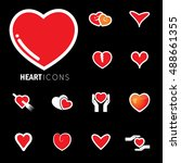 abstract heart icons   signs  ... | Shutterstock .eps vector #488661355
