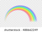 transparent rainbow. vector...