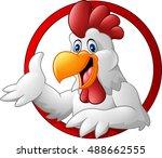 cartoon rooster mascot... | Shutterstock . vector #488662555