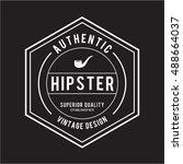 mustache vintage hipster... | Shutterstock .eps vector #488664037