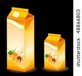 design of packing milky... | Shutterstock .eps vector #48866803