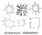 comic book explosion set.   Shutterstock .eps vector #488668045