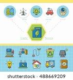 icon set ecology vector