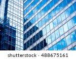 windows of business building in ... | Shutterstock . vector #488675161