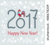 new year s card with symbol of... | Shutterstock .eps vector #488678209