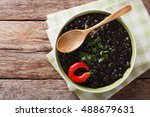 stewed black beans with spices... | Shutterstock . vector #488679631