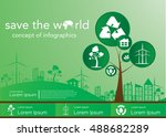save the world  concept of... | Shutterstock .eps vector #488682289