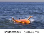 falling off a paddle board in... | Shutterstock . vector #488683741