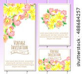 romantic invitation. wedding ... | Shutterstock .eps vector #488684257