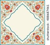 ornate vintage frame in arabian ...   Shutterstock .eps vector #488687461