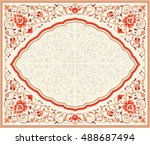traditional floral vector frame ...   Shutterstock .eps vector #488687494