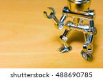 robotic pointing arm on... | Shutterstock . vector #488690785