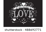 all you need is love | Shutterstock .eps vector #488692771