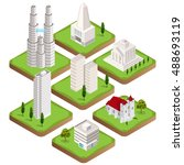 big collection of isometric 3d...   Shutterstock .eps vector #488693119