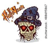 halloween zombie  | Shutterstock .eps vector #488695867