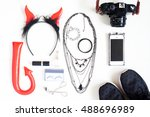 flat lay photography with... | Shutterstock . vector #488696989