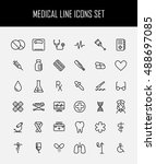 set of medical icons in modern... | Shutterstock .eps vector #488697085