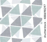 pattern grid  triangle ... | Shutterstock .eps vector #488698297