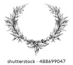 laurel wreath vintage baroque ... | Shutterstock .eps vector #488699047