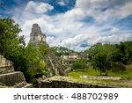 mayan temple i  gran jaguar  at ... | Shutterstock . vector #488702989