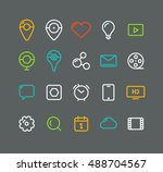 different simple web pictograms ...