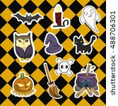 halloween element collection ... | Shutterstock .eps vector #488706301