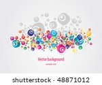 abstract colorful  grunge... | Shutterstock .eps vector #48871012