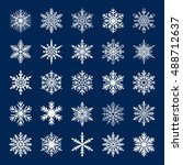 cute snowflake collection... | Shutterstock .eps vector #488712637