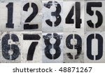 Numbers 0 To 9 Painted Stencil...
