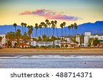 view on santa barbara from the... | Shutterstock . vector #488714371