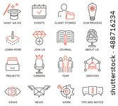 vector set of 16 icons related... | Shutterstock .eps vector #488716234