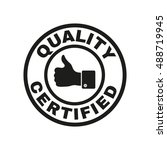 the certified quality and... | Shutterstock . vector #488719945
