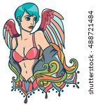 vector illustration with sexy... | Shutterstock .eps vector #488721484