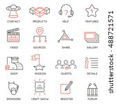 vector set of 16 icons related... | Shutterstock .eps vector #488721571