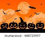 halloween holiday graphic... | Shutterstock .eps vector #488725957