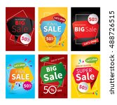 set of sale website banner... | Shutterstock .eps vector #488726515