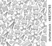 industrial basic vector icon... | Shutterstock .eps vector #488729785