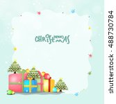 greeting card design with... | Shutterstock .eps vector #488730784