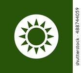 sun  icon vector.  flat... | Shutterstock .eps vector #488744059