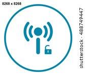 wifi icon vector   Shutterstock .eps vector #488749447